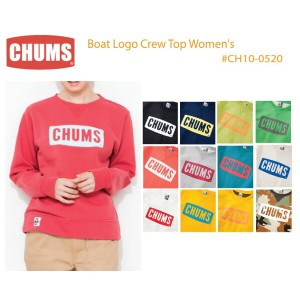 CHUMS チャムス CH10-0520 Boat Logo Crew Top Women's ボートロゴクルートップ女性用  ※取り寄せ品