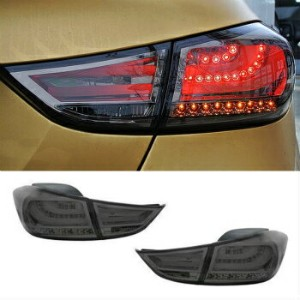 BMW テールライト BMW F10 Style BLACK Ver.2 Rear LED Tail Lamp for HYUNDAI 2011 - 2016 Elantra MD...