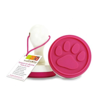 【Scrap Cooking(スクラップクッキング)】【クッキースタンプ】犬猫 肉球(にくきゅう)【シリコンゴム】silicone stamp for biscuit cat paw