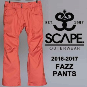 16-17 SCAPE ARES PANTS/SCAPE スノーボードウェア/SCAPE ウェア レディース/SCAPE ウエア レディース/SCAPE パンツ/エスケープ ウェア/エスケープ...