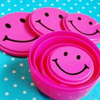 ニコちゃん スマイル『SMILE FOOD CONTAINER 4P SET PINK』