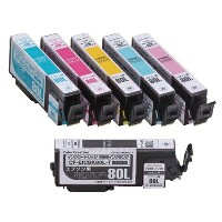 ★★Color Creation/EPSON/IC6CL80互換/エコカートリッジ/6色パック CF-EIC6CL80Lプリンターインク カートリッジ エプソン プリンター プリンターインクエプソン...