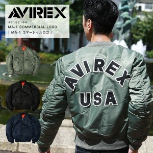"""AVIREX MA-1 COMMERCIAL LOGO """"NEW"""" #6162164 メンズ アウター MA-1 ナイロン 【SALE 返品・交換不可】"""