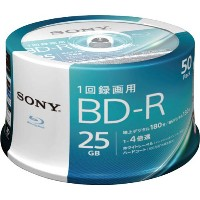 ソニー BD-R録画用 25GB 4倍速 50枚SP