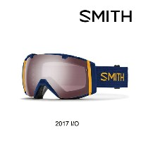 2017 SMITH スミス ゴーグル GOGGLE I/O NAVY SCOUT/IGNITOR MIRROR+YELLOW SENSOR ASIAN FIT