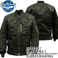 BUZZ RICKSON'S(バズリクソンズ)BLACK MA-1 SLENDER (LONG)『WILLIAM GIBSON COLLECTION』BR12667