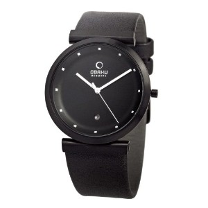 オバック ユニセックス 腕時計 Obaku Unisex Quartz Watch with Black Dial Analogue Display and Black Leather Strap...