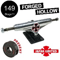 【INDEPENDENT インディペンデント】【日本限定】149 FORGED HOLLOW LTD CROSS SILVER/BLACK STANDARD TRUCKS(Stage11)トラック...