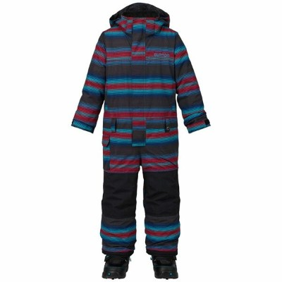 【20%OFF】16-17モデル【BURTON】バートン【Boys' Minishred Striker One Piece】Seaside Stripe 【SNOWBOARD】スノーボード【つなぎ...