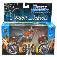 "MUSCLE MACHINES - WESTCOAST CHOPPERS 1:18SCALE JESSE JAMES ""EL DIABLO - RIGID""(CANDY ORANGE..."