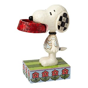 enesco PEANUTS DESIGNS BY JIM SHORE フィギュア スヌーピー Holding Dog Dish  #4049411 4049411