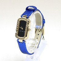 MARC JACOBS マーク ジェイコブス The Jacobs 31 Ion Plating Gold Blue Strap 腕時計 ブルー×ゴールド 【中古】