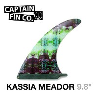 "CAPTAIN FIN  キャプテンフィン (RAKED FIN) KASSIA MEADOR TIE DYE 9.8"" カシア・ミーダー ロングボード用フィン"