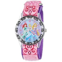 ディズニー Disney kids'W001192 Princess Time Teacher Watch with Pink Nylon Band 女の子 ガールズ 腕時計 【並行輸入品】