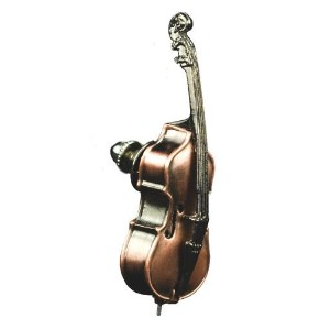 ストリングベース ブロンズ仕上げ ピン PIN Italian Solo String Bass Scaled Replica Violin Corners Bronze Plate 597