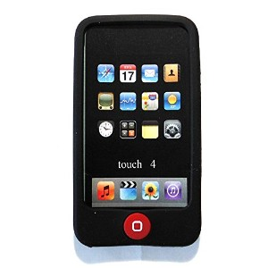 Msfort iPod Touch 4【第4世代】シリコンケース iPod Touch 4 Silicone Case (ブラック)