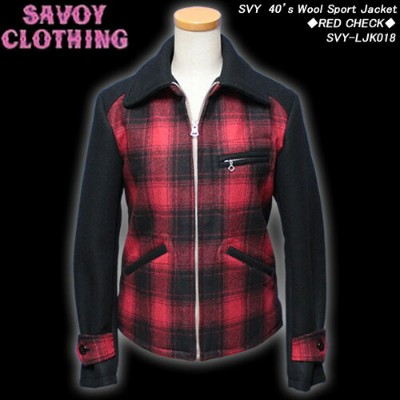 SAVOY CLOTHINGサボイクロージング◆SVY 40's Wool Sport Jacket◆◆RED CHECK◆SVY-LJK018