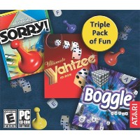 Sorry! /Boggle / Yahtzee (Jewel Case) (輸入版)