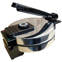 Saachi Electric Non-Stick Roti Chapati Flat Bread Wraps/Tortilla Maker with Temperature Control ...