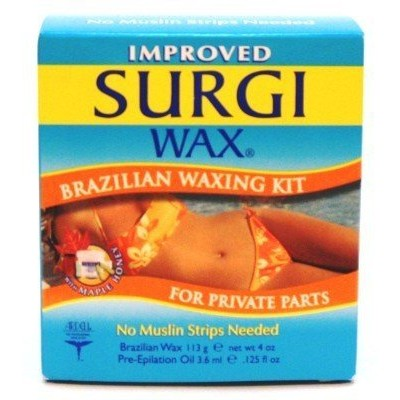 Surgi (サージ)ブラジリアン ワックス キット 無駄毛処理用 WAX Brazilian Waxing Kit for Private Parts (並行輸入品)