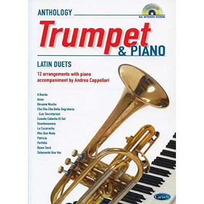 Latin Duets for Trumpet & Piano. Partitions, CD pour Trompette, Piano