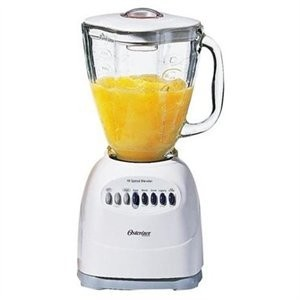 Oster 6647 WHT 10 Speed Blender with Glass Jar - White【並行輸入】