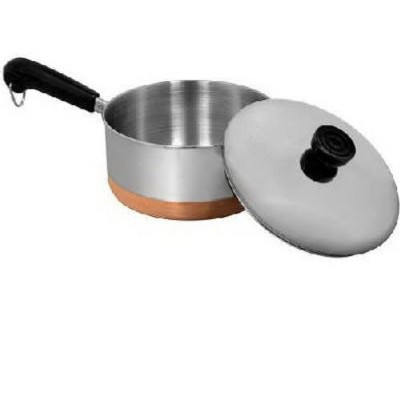 Revere Stainless Steel Copper Clad Bottom Covered Saucepan-2QT COVERED SAUCEPAN (並行輸入品)