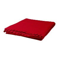 IKEA POLARVIDE - Throw, red - 130x170 cm by Ikea