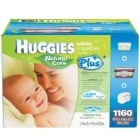 Baby Wipes MEGA PACK Brand New by HUGGIES NATURAL CARE 1160 Total Individual WIPES Special...