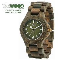 【WEWOOD】ウィウッド 腕時計 ウッド/木製 DATE ARMY 9818026