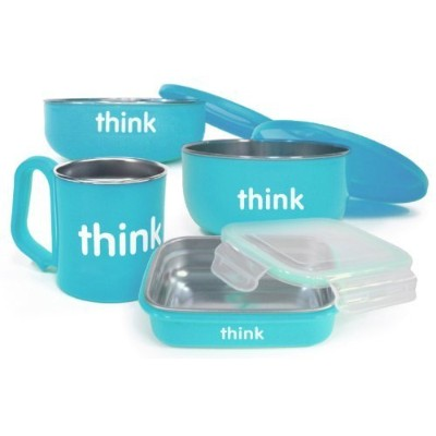 thinkbaby The Complete BPA Free Feeding Set, Light Blue by thinkbaby [並行輸入品]