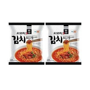 Korean Hot and Spicy Best Noodle (Omori Kimchi Stew Ramen - 2 Pack)