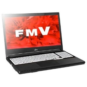 FUJITSU 15.6 型 ノートパソコン 【 Office2013 Personal / Win7Pro 32bit (Win10Pro-DG) / Core i3-4000M(2.4GHz) / 4GB / 500GB / DVD-Sマルチ / テンキー / 】 FMVA1002AP