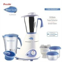 NEW Original Preethi Blue Leaf 3 Jar Indian Mixie Mixer Grinder - 110 Volts【並行輸入】