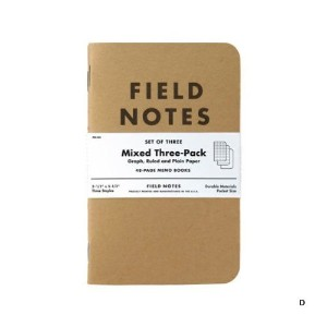 FIELD NOTES 3-PACKS (D)ミックス [FB001]