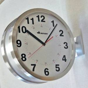 DOUBLE FACES WALL CLOCK (シルバー)