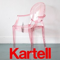 Kartell(カルテル)子供イスLOU LOU GHOST ルールーゴースト キッズ用チェア/クリアピンク LLOU-2852-Y2 ●