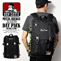 (ベンデイビス)BEN DAVIS公式 METAL BUCKLE 2TONE DAY PACK -BLACK/CAMO- BLACK-CAMO FREE