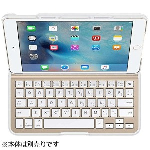 BELKIN iPad mini 4用 QODE Ultimate Liteキーボードケース ホワイト/ゴールド F5L191QEWGW