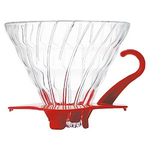Hario VDG-02R V60 02 Glass Coffee Dripper, Red [並行輸入品]