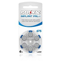 60 Rayovac Mercury Free Hearing Aid Batteries Size: 675P Cochlear + Battery Holder Keychain by...