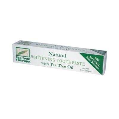 Tea Tree Therapy Natural Whitening Toothpaste, 3 Ounce by Tea Tree Therapy