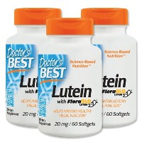 3本セット 海外直送品 Doctors Best Floraglo Lutein With Zeaxanthin, 60 Softgels 20 Mg