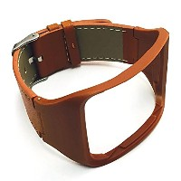 BSI New Elegant Brown Leather Replacement Band For Samsung Gear S Smartwatch Smart Watch