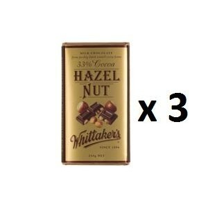 ウィッタカー Chocolate Block Block 33% Cocoa Hazelnut 250g 3EA [並行輸入品]