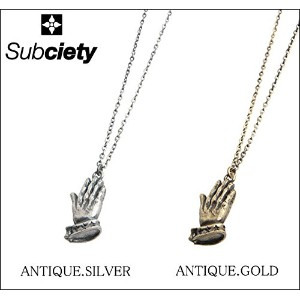 (サブサエティ)Subciety METAL NECKLACE -PRAYING HANDS- ネックレス FREE ANTIQUE.GOLD