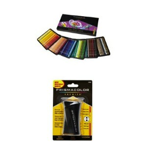 Prismacolor プリズマカラー 最高級色鉛筆 150色 シャープナー セット Soft Core Colored Pencil, Set of 150 Assorted Colors...