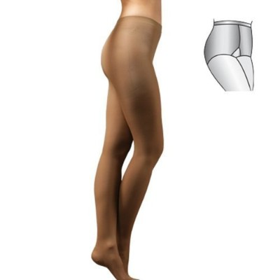 Elastic Medical Grade Class 1 (18-21 mmHg) COMPRESSION SUPPORT TIGHTS (Medium, Black) by Tonus...