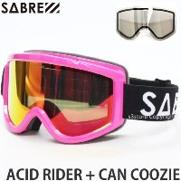 SABRE(セイバー) ゴーグル ACID RIDER + CAN COOZIE / HOT PINK/GLOSS / BRONZE BASED RED REFLECTIVE LENS /...