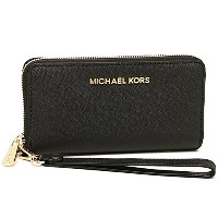 (マイケルコース) MICHAEL KORS 財布 32T4GTVE3L 001 JET SET TRAVEL LG COIN MLT FUNT PHN CASE 長財布 BLACK[並行輸入品]